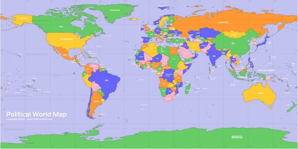 Мира страны на карте мира 8000x4000 px 1626кб